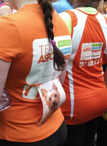Team ASPCA members at the race start, August 5th